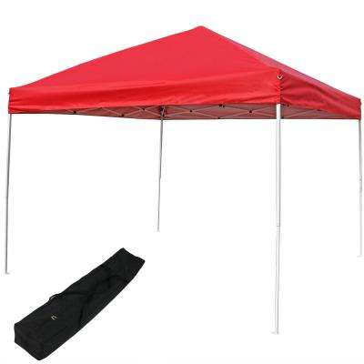 12 ft. x 12 ft. Red Quick-Up Straight Leg Canopy with Carrying Bag