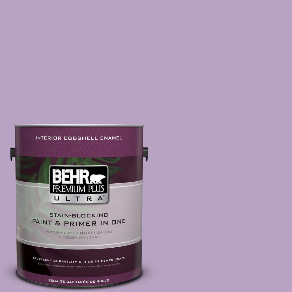 BEHR Premium Plus Ultra 1-gal. #660D-4 Lilac Rose Eggshell Enamel Interior Paint