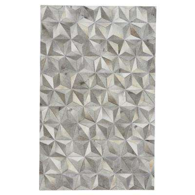 Butte Diamond Ash 5 ft. x 8 ft. Area Rug