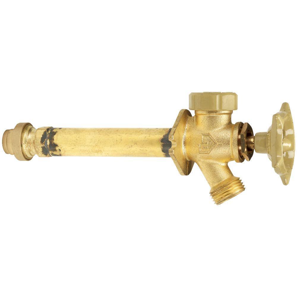 Homewerks Worldwide 1/2 in. x 6 in. Brass Anti-Siphon Frost Free ...