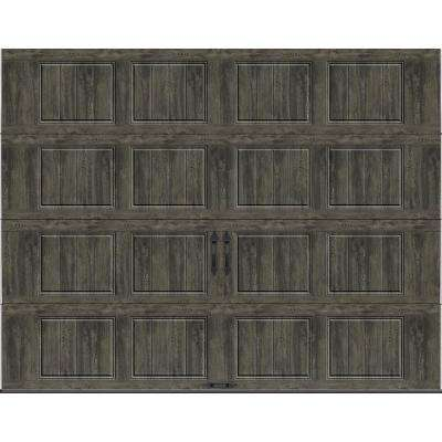 Gallery Collection 9 ft. x 7 ft. 18.4 R-Value Intellicore Insulated Solid Ultra-Grain Slate Garage Door