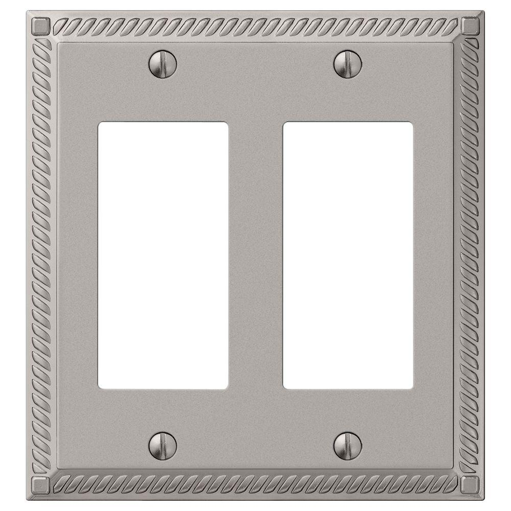 Hampton Bay Georgian 2 Decora Wall Plate Satin Nickel