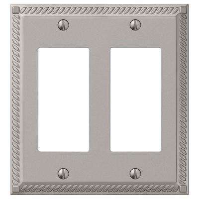 Georgian 2 Decora Wall Plate - Satin Nickel