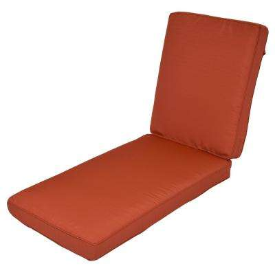 Woodbury Quarry Red Replacement Outdoor Chaise Lounge Cushion