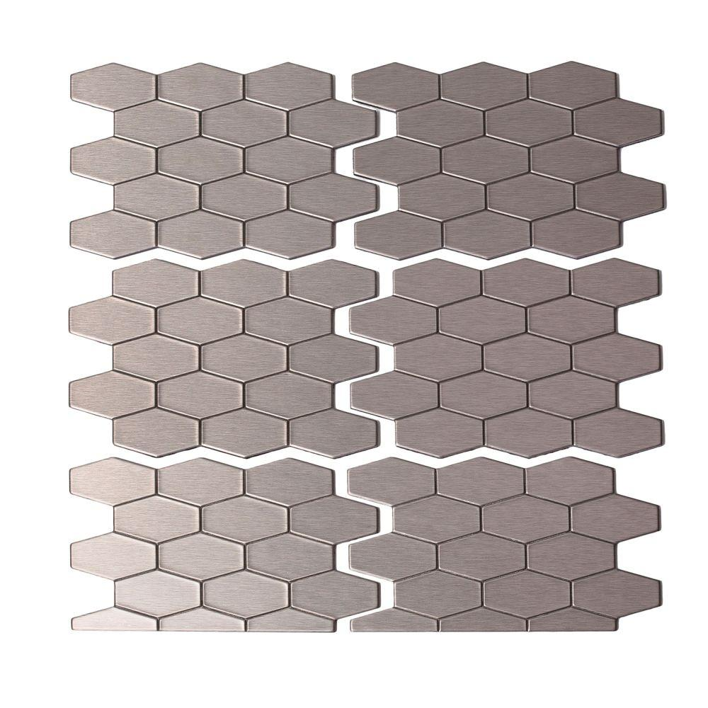 Hex tile backsplash