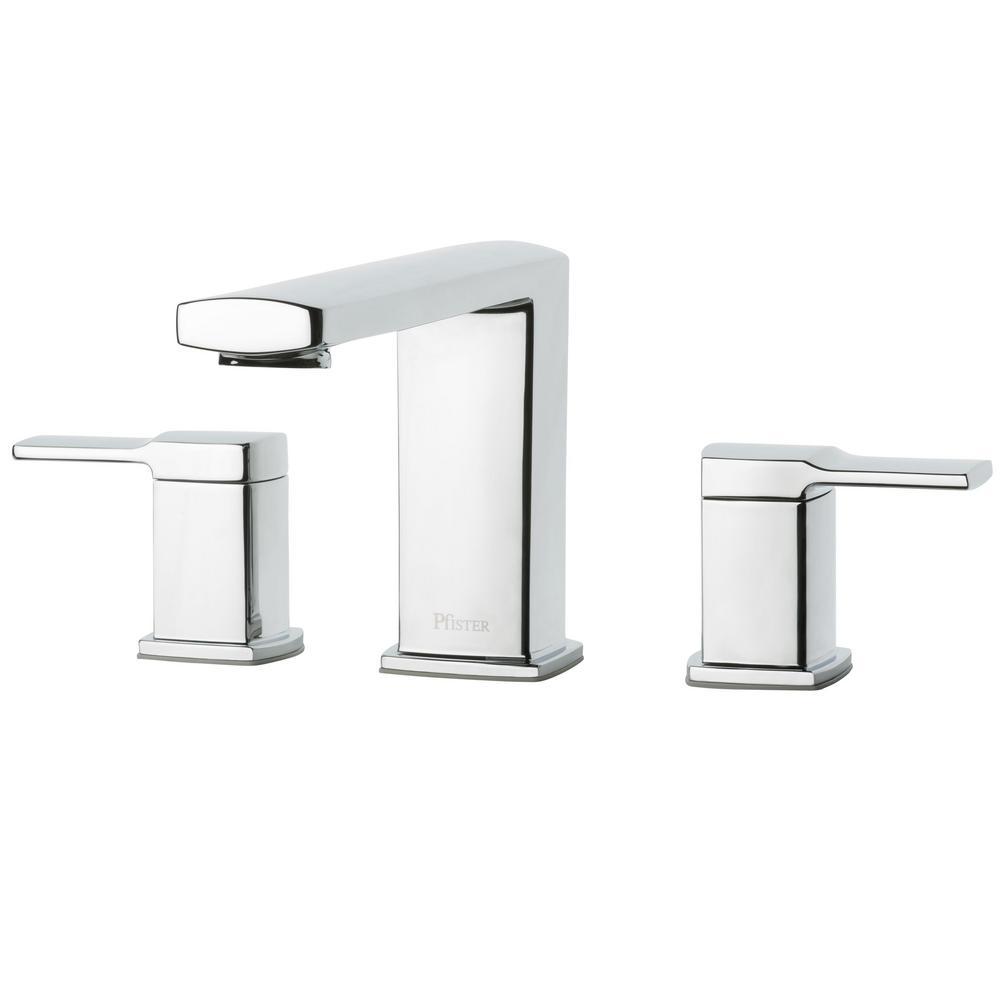 Deckard 2-Handle Deck-Mount Roman Tub Faucet Trim Kit in Polished Chrome