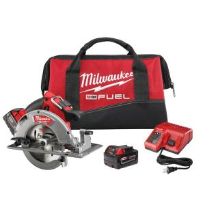 Milwaukee M18 FUEL 18-Volt Lithium-Ion Brushless Cordless 7-1/4 inch Circular Saw Kit W/(2) 5.0Ah Batteries,... by Milwaukee