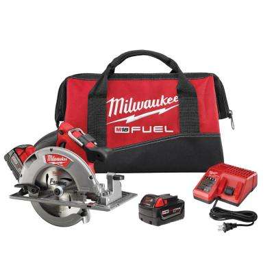 M18 FUEL 18-Volt Lithium-Ion Brushless 7-1/4 in. Cordless Circular Saw Kit
