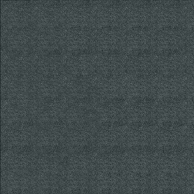 First Impressions Smoke Ribbed Texture 24 in. x 24 in. Carpet Tile (15 Tiles/Case)