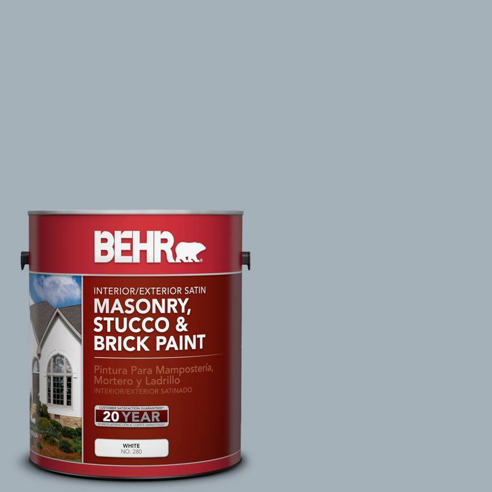 1 gal. #MS-72 Biscayne Bay Satin Interior/Exterior Masonry, Stucco and Brick