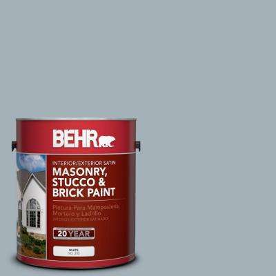 1 gal. #MS-72 Biscayne Bay Satin Interior/Exterior Masonry, Stucco and Brick Paint