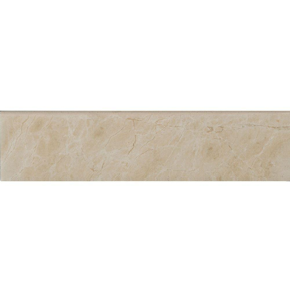Favrales Beige 3 in. x 12 in. Porcelain Floor and Wall