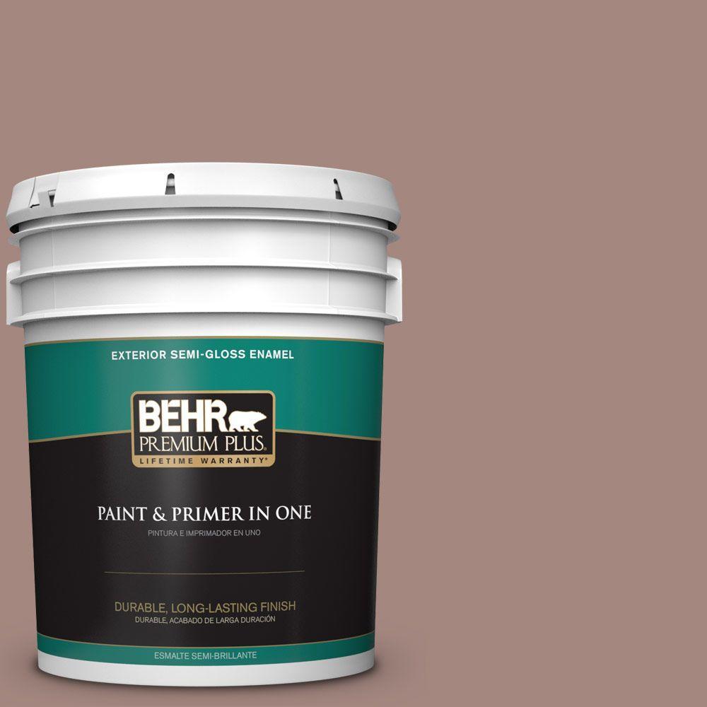 BEHR Premium Plus 5-gal. #BNC-11 Pink Granite Semi-Gloss Enamel Exterior Paint
