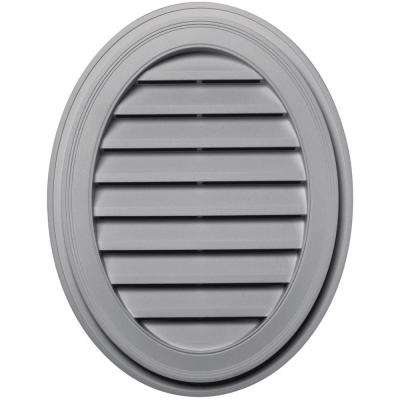 27 in. Oval Gable Vent in Gray