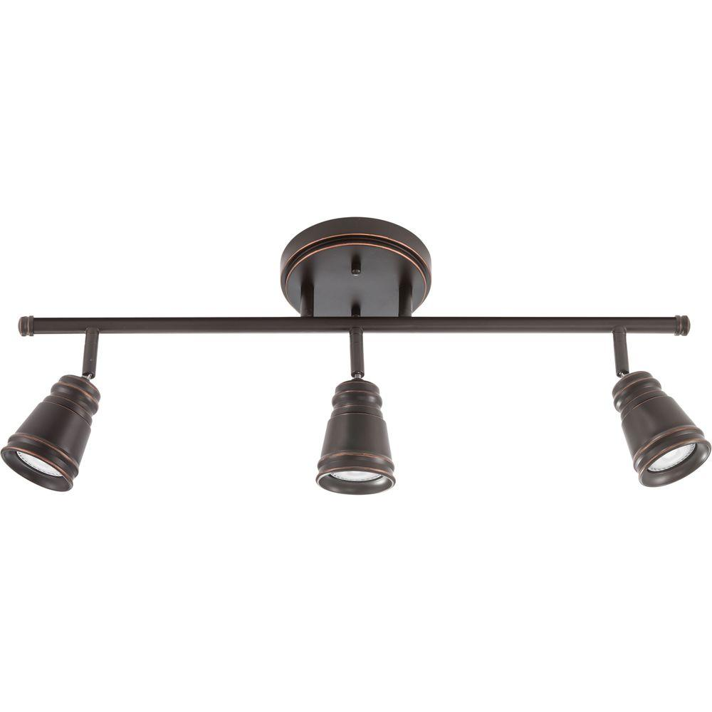 low cost db8ac c1f83 Lithonia Lighting Pepper Mill 3-Light Oil Rubbed Bronze Track Lighting  Fixture with LED Bulbs