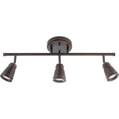 Pepper Mill 3-Light Oil Rubbed Bronze Track Lighting Fixture with LED Bulbs
