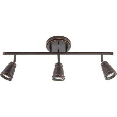 Pepper Mill 3 Light Oil Rubbed Bronze Track Lighting Fixture With Led Bulbs
