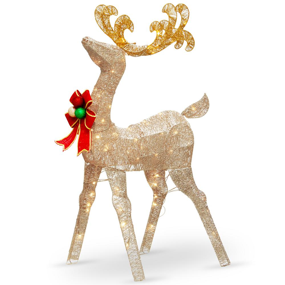 National Tree pany 48 in Reindeer Decoration with Clear Lights
