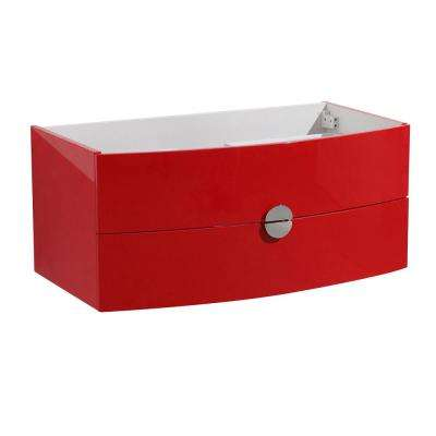Bathroom Vanity Caninet Only In Red