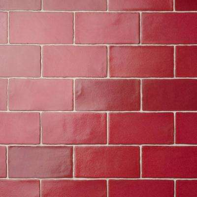 Red - Subway - Kitchen - Ceramic Tile - Tile - The Home Depot