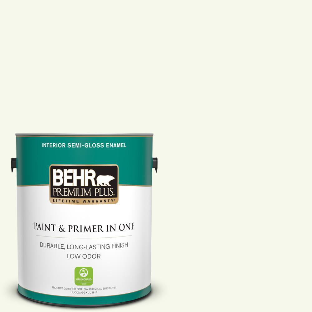 1 gal. #BXC-29 Stately White Semi-Gloss Enamel Low Odor Interior Paint