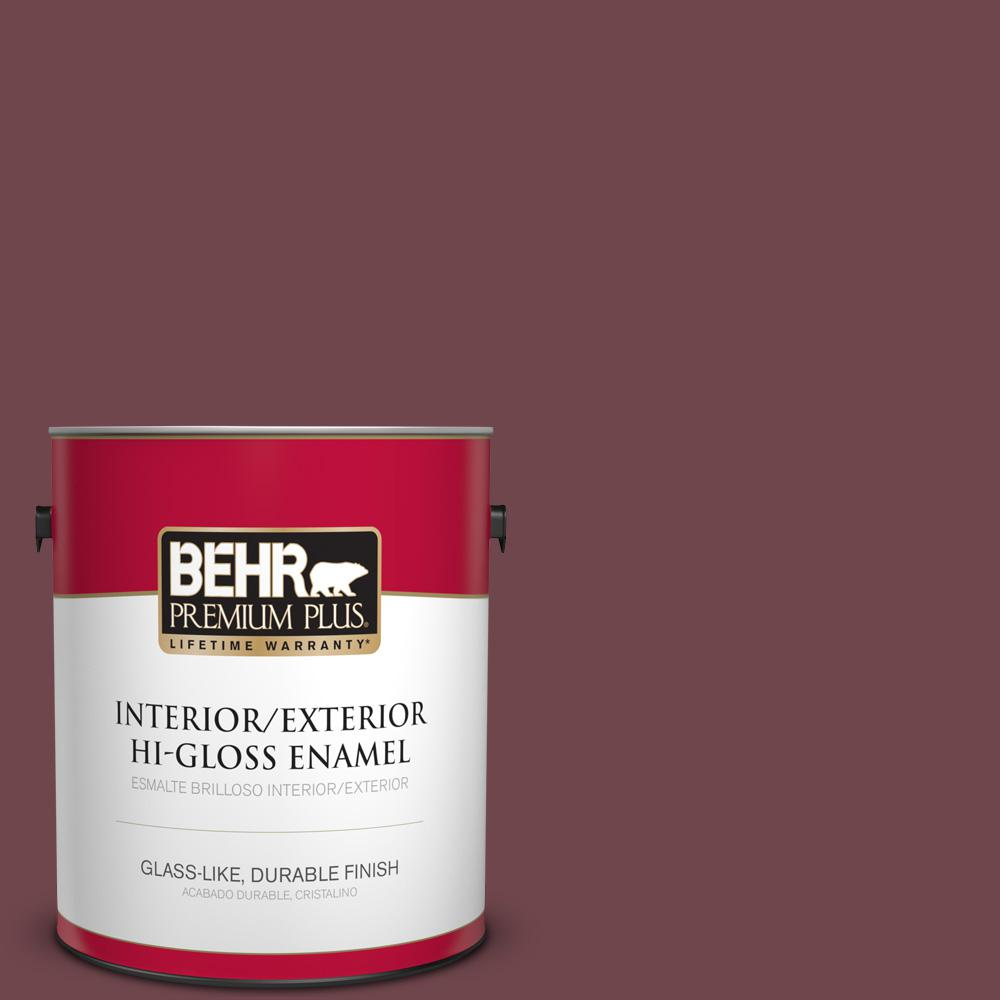 1 gal. #PPU1-14 Formal Maroon Hi-Gloss Enamel Interior/Exterior Paint