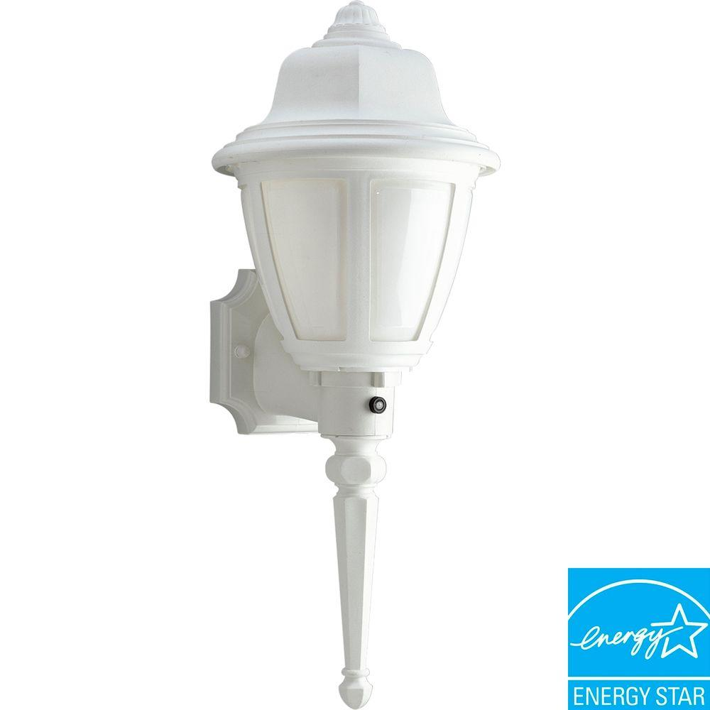 Progress Lighting White 1-light Wall Lantern-DISCONTINUED