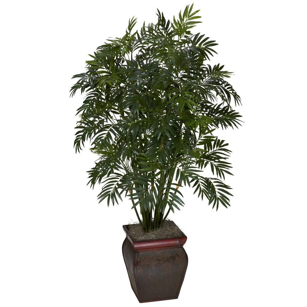 null 45 in. H Green Mini Bamboo Palm with Decorative Vase