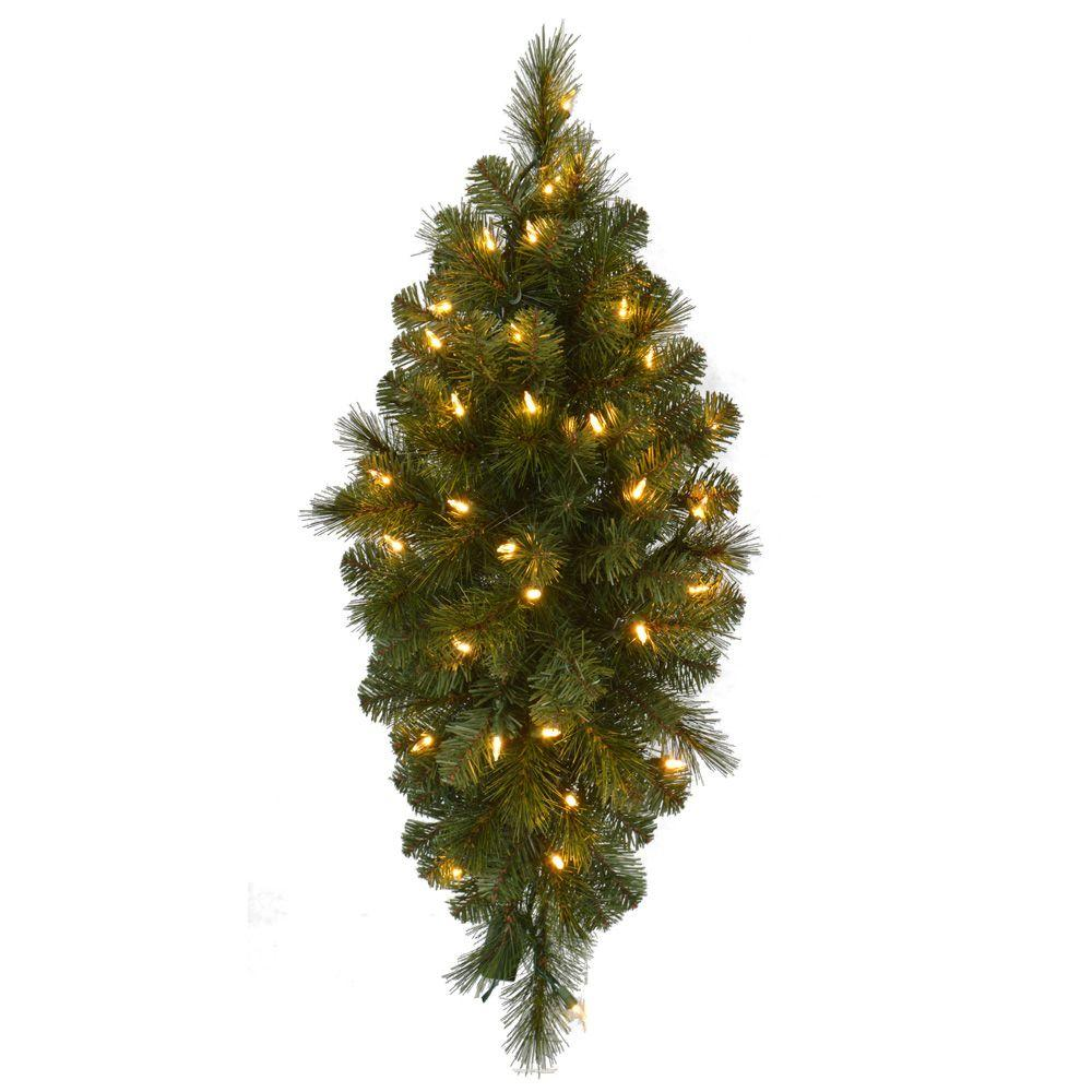 32 in pre lit led wesley pine swag x 133 tips with 35 plug in pre lit led wesley pine swag x 133 tips with 35 plug in indooroutdoor warm white led lights gk28m2l46l01 the home depot aloadofball Choice Image