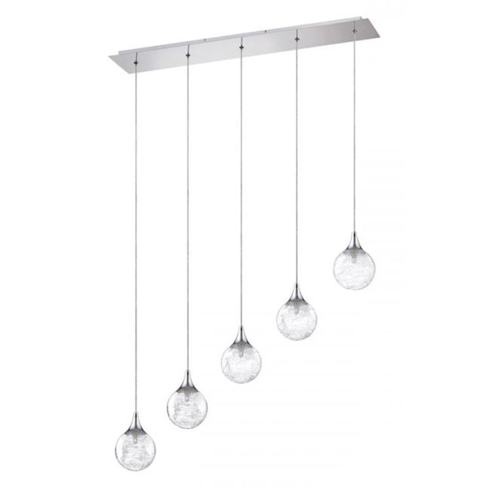 Filament Design Adrasta 5-Light Chrome Multi-Light Pendant