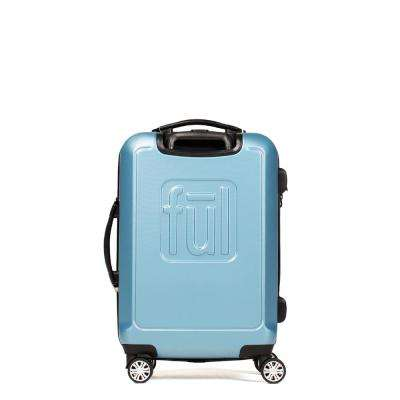 Scribble 21 in. Carolina Blue Expandable Spinner Rolling Luggage Suitcase