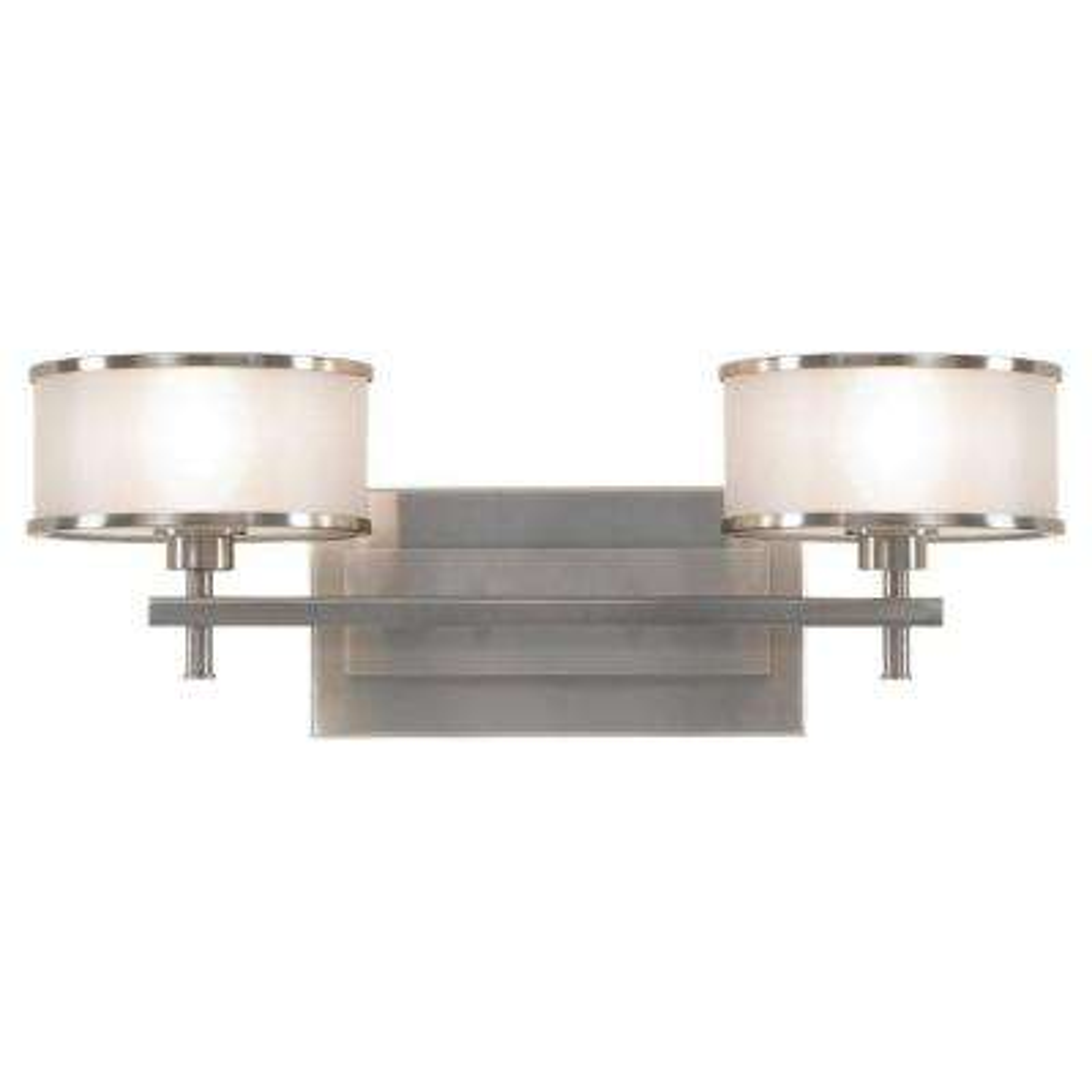 Casual Luxury 18.125 in. W.  2-Light Brushed Steel Vanity Light