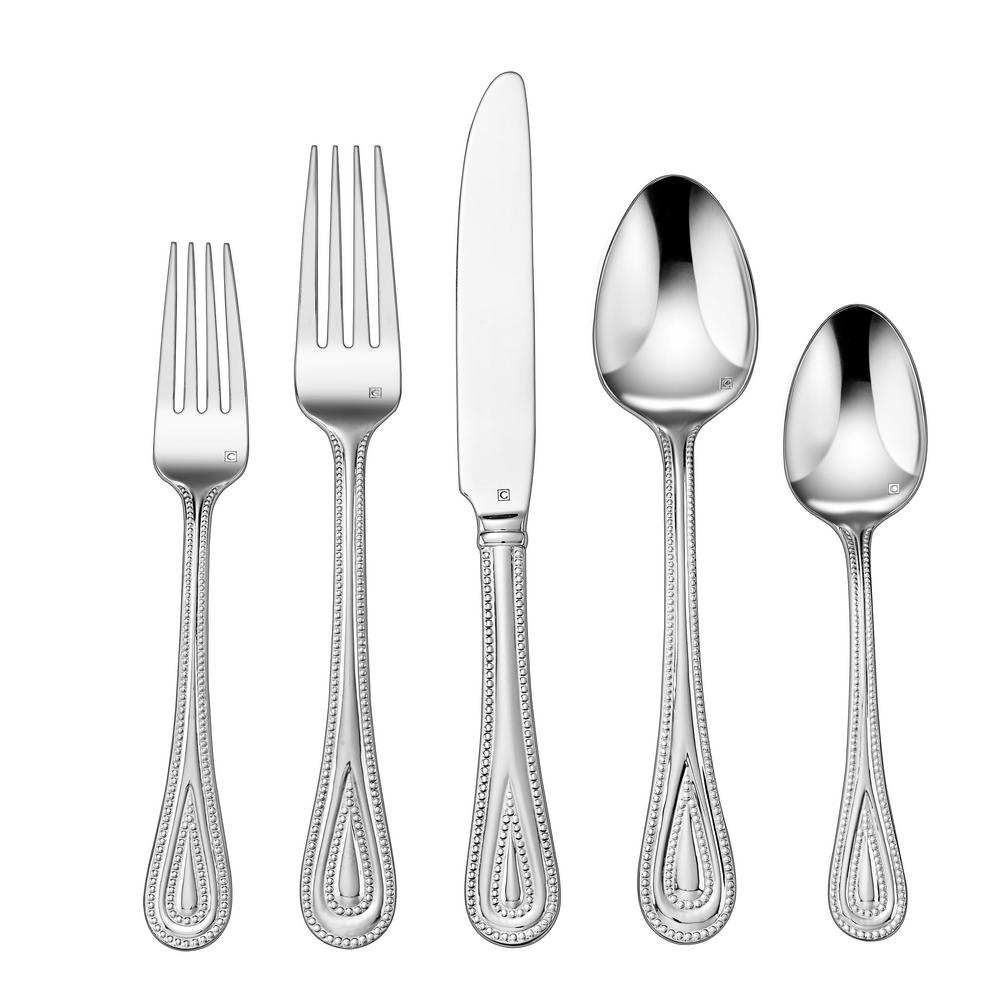 Fampoux Collection 20-Piece Flatware Set in Silver