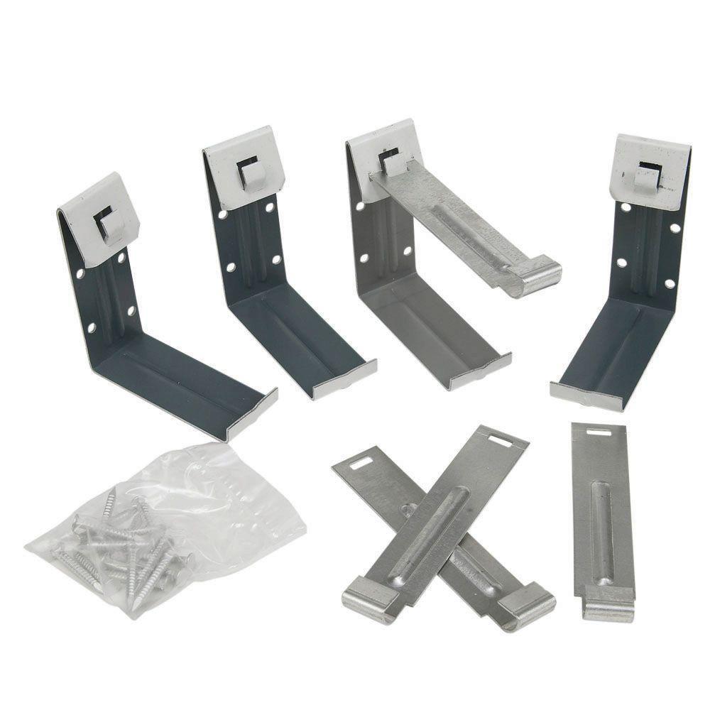 5 in. Aluminum Fascia Brackets (4-Pack)
