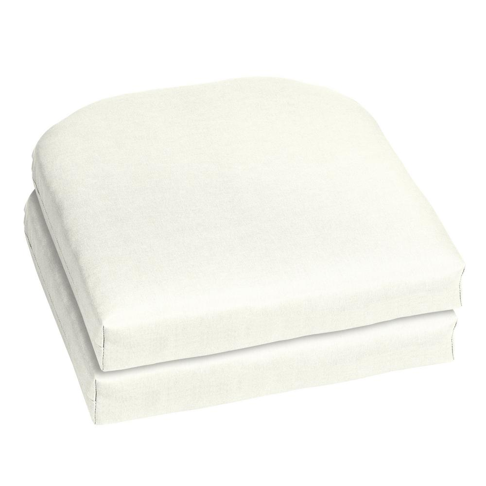 Home Decorators Collection 18 X Sunbrella Canvas White Outdoor Chair Cushion 2 Pack