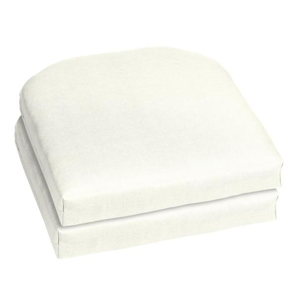 Home Decorators Collection 18 X 18 Sunbrella Canvas White Outdoor Chair Cushion 2 Pack Ah1m366b D9d2 The Home Depot