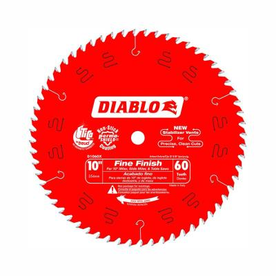 10 in. x 60-Teeth Fine Finish Saw Blade