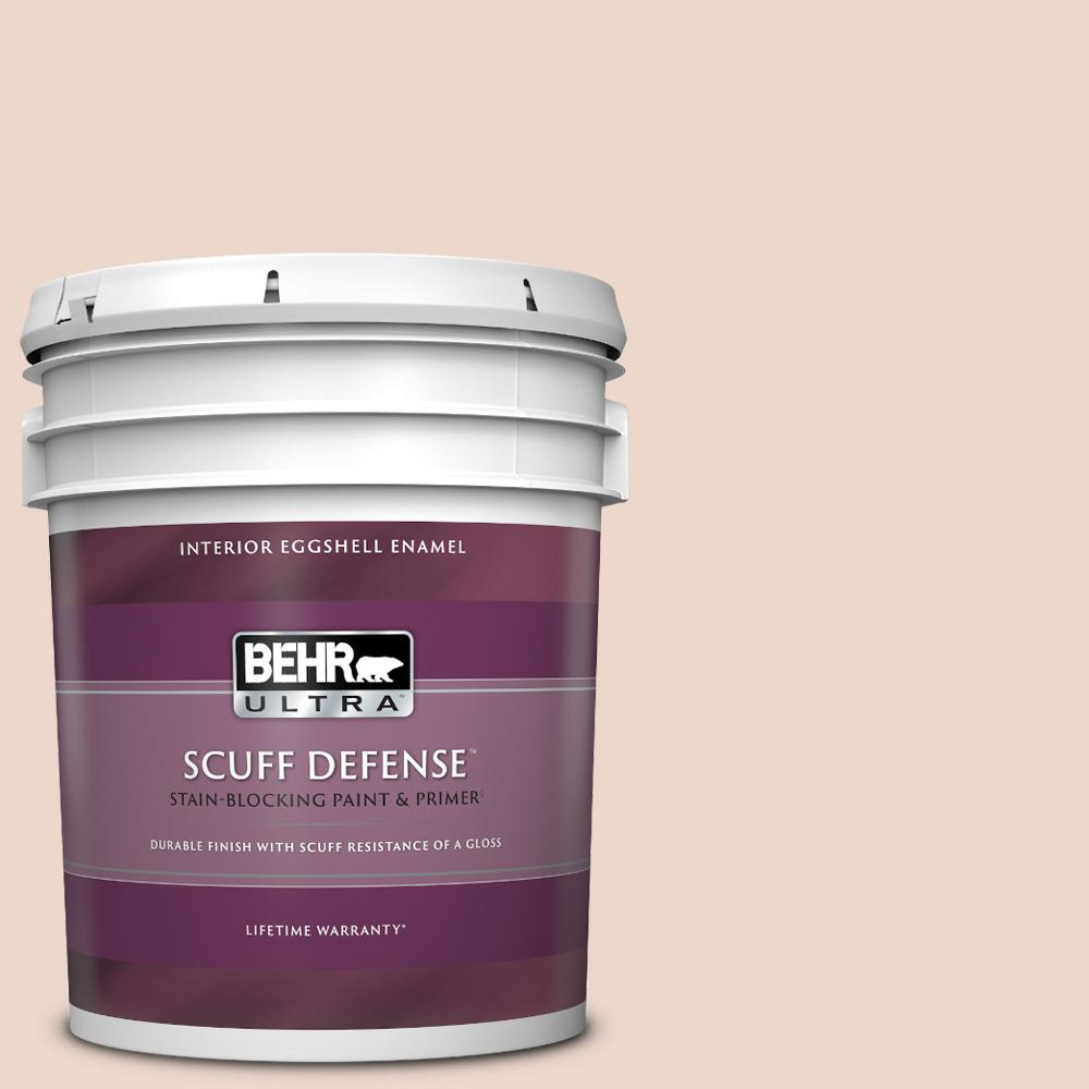 Behr Ultra 5 Gal 210e 2 Antique Pearl Extra Durable Eggshell Enamel Interior Paint And Primer In One 275005 The Home Depot