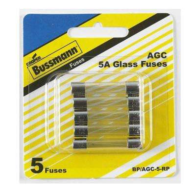 AGC Series 5 Amp Silver Electronic Fuses (5-Pack)