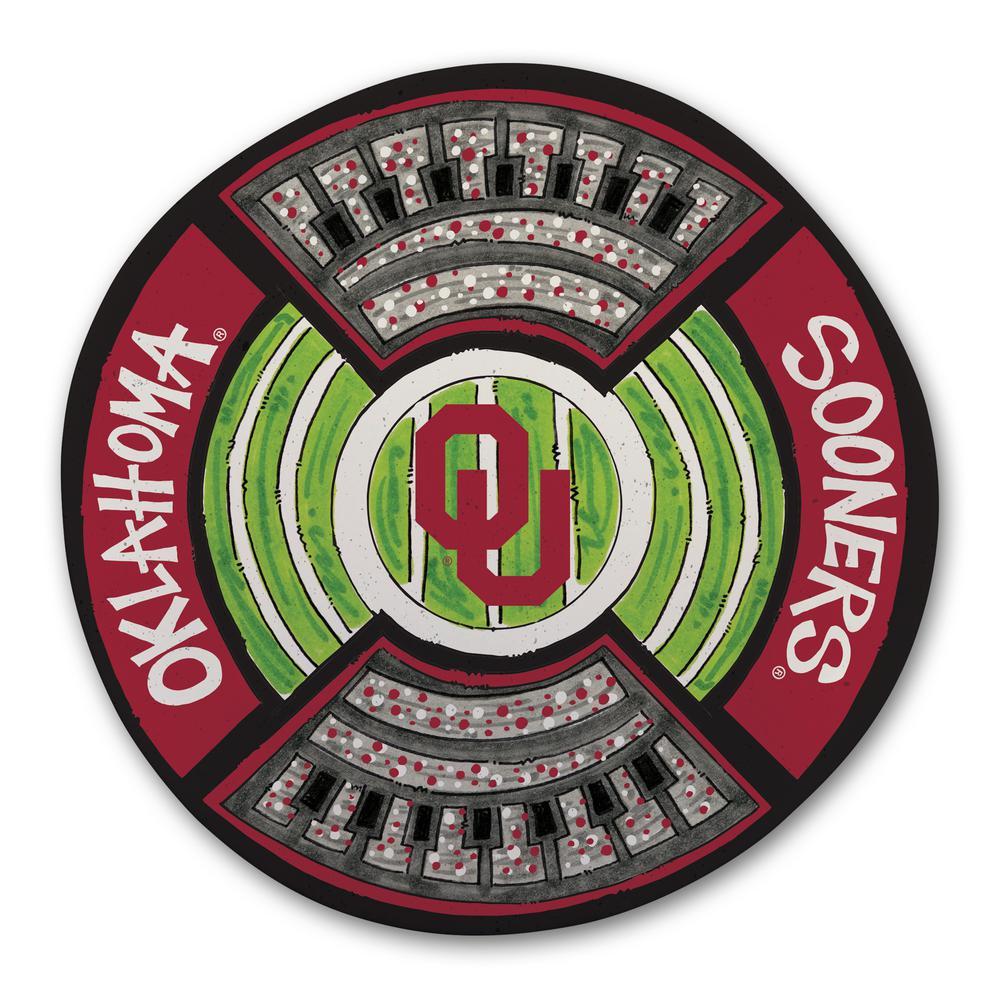 Oklahoma Football Stadium Melamine Platter