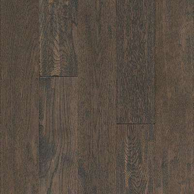 Take Home Sample - Oak Sculpted Misted Memory Solid Hardwood Flooring - 5 in. x 7 in.