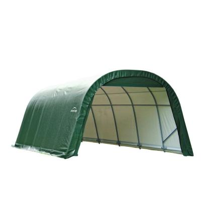 ShelterCoat 12 ft. x 28 ft. Wind and Snow Rated Garage Round Green STD