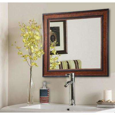 Country Pine Square Vanity Wall Mirror