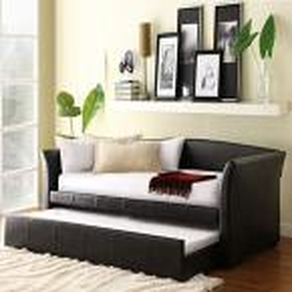HomeSullivan Varela Dark Brown Trundle Day Bed