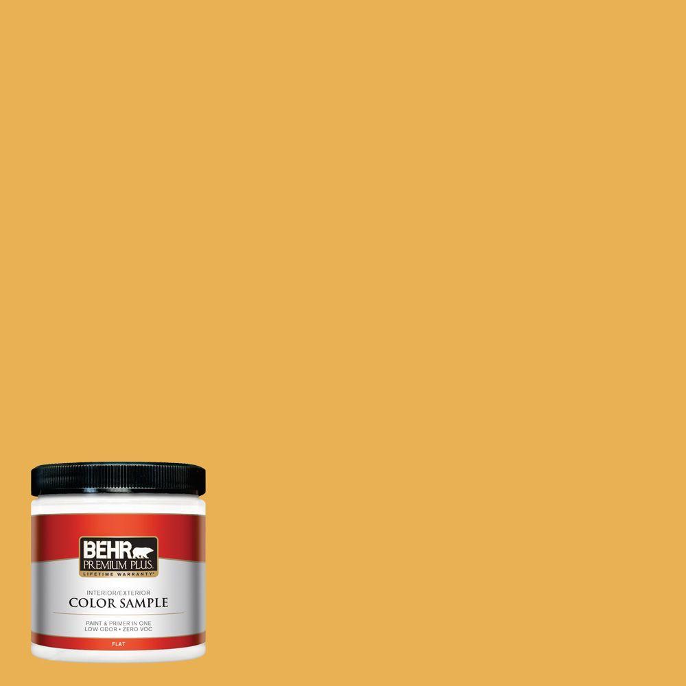 8 oz. #PMD-20 Goldenrod Field Zero VOC Interior/Exterior Paint Sample