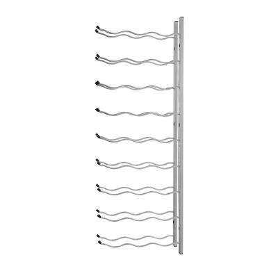 27-Bottle Metal Wine Rack in Nickel
