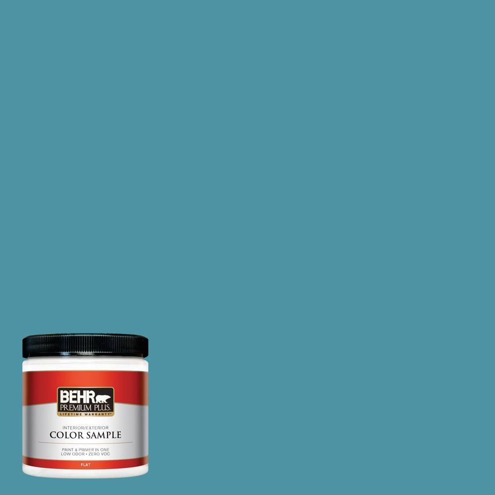 8 oz. #530D-6 Teal Bayou Interior/Exterior Paint Sample