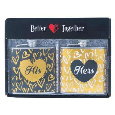 2-Piece 6 oz. His and Hers Flask Set