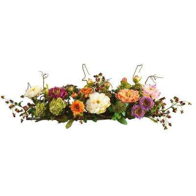 3 ft. Peony Centerpiece Silk Flower Arrangement