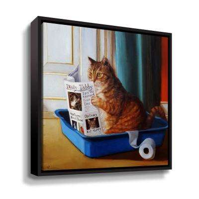 Kitty throne' by Lucia Heffernan Framed Canvas Wall Art